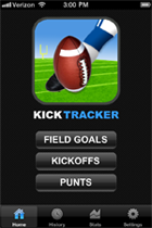 Kick Tracker Home Screen
