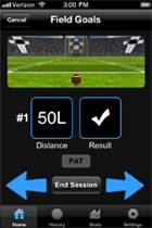 Kick Tracker Session Screen